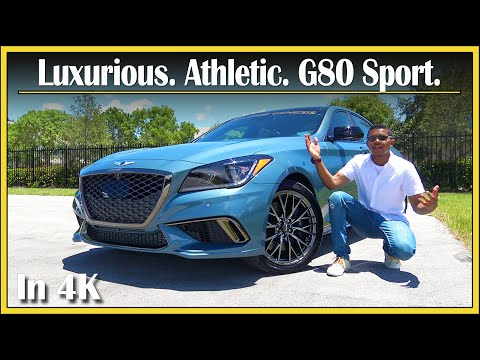 2018 Genesis G80 Sport 3.3T Review | An Athletic Luxury Bargain? | In-Depth & Detailed | In 4K UHD!