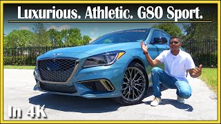 2018 Genesis G80 Sport 3.3T Review | In-Depth & Detailed | Affordable Athletic Luxury? | In 4K UHD!