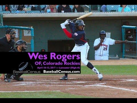 Wes Rogers, OF, Colorado Rockies — April 10-12, 2017