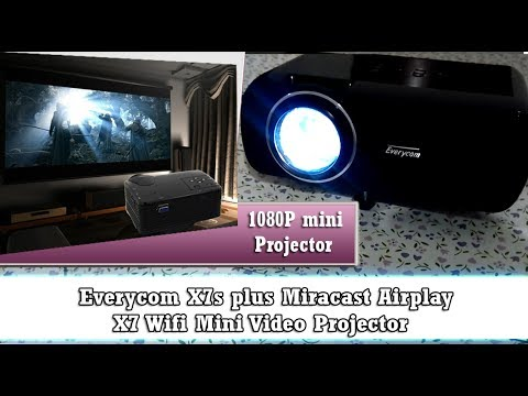 Everycom X7s Plus Android WiFi 1800 lumens 1080P HD: Unboxing and Review, EBay Aliexpress