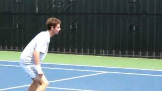 Andy Murray, warm-up footie, Cincy 2010