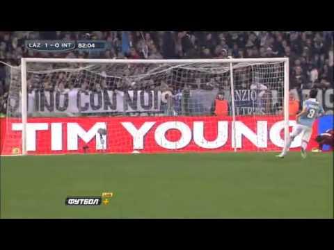 Miroslav klose goal Lazio vs Inter Milan 1-0 - YouTube