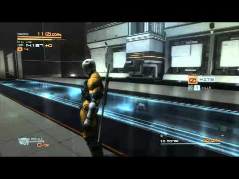 Metal Gear Rising: Mistral and Monsoon Body Double Boss (HARD) Gameplay Gray Fox