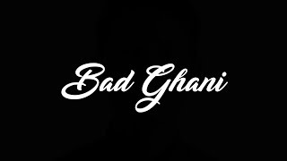 BAD GHANI - Tersalah Cinta (Official Lyric Video)