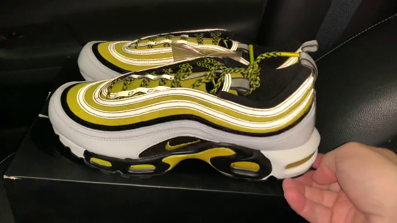 cf3d2253b7 Nike Air Max Plus 97 Frequency Pack Tour Yellow sneakers - YouTube