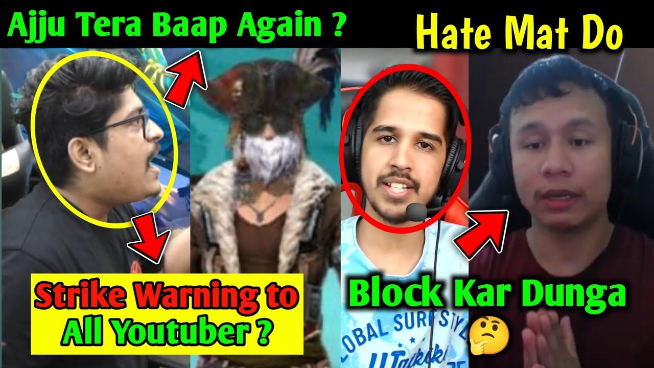Ajju Tera Baap on Trending, Gyan Gaming Strike Warning to Big Youtuber 😱, Desi Gamer & Tonde Gamer