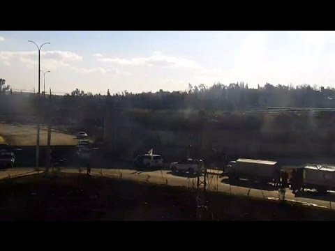 Live from corridor for militants in Aleppo's al-Ramusi area as evacuation underway
