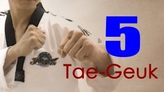 WTF Taekwondo poomsae Taegeuk 5 Jhang (taekwonwoo) 태극 5장