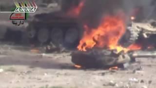 Сирия  Российские вертолеты Ми 24 атакуют боевиков  Russian Mi 24 Hind attack in Syria 720