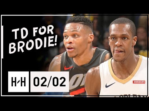 Russell Westbrook vs Rajon Rondo PG Duel Highlights (2018.02.02) Pelicans vs Thunder - TD for Brodie