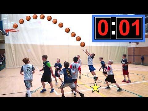 🏀Kid Makes GAME WINNING Shot at Basketball Game!🏀