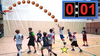 🏀Kid Makes GAME WINNING Shot at Basketball Game!🏀