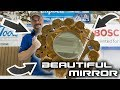Refinishing a log mirror