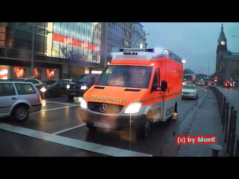 RTW RKiSH (Pressluftkonzert + Staudurchfahrt) in Hamburg Abends (HD)