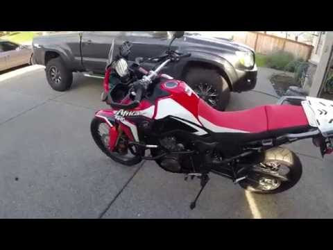 Africa Twin - Outback Motortek crash bar and skid plate install