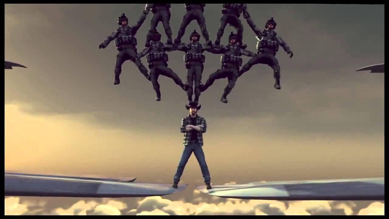 Chuck Norris - parody Van Damme Volvo commercial - YouTube