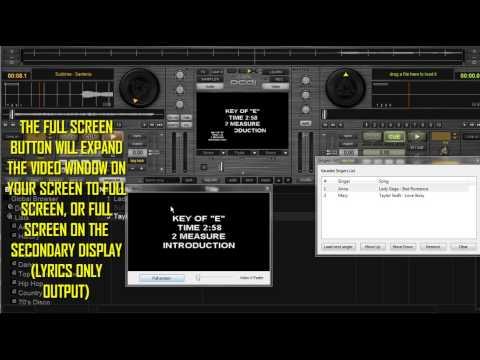 PCDJ DEX 2: karaoke software New Karaoke Singers List in Version 2.6