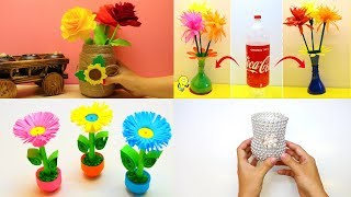 10 Flower Vase Craft Ideas | Easy Flower Vase Decoration Ideas