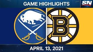 NHL Game Highlights   Sabres Vs. Bruins - Apr. 13, 2021