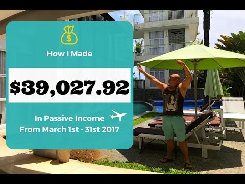 Passive Income from Bali! March 2017 Income Report as a Digital Nomad