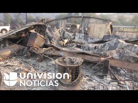 Voraz incendio que se extiende por California deja reducido a cenizas un vecindario de Santa Rosa