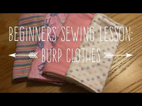 Beginners Sewing Lesson: Burp Clothes et al