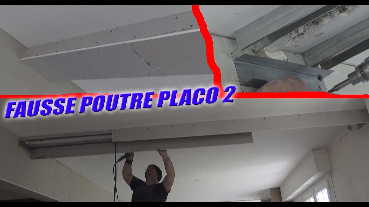 Habiller Une Poutre En Placo ⏩ fausse poutre en ba13 partie 2 plaquage / tuto placo