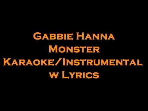 Gabbie Hanna - Monster Reborn KaraokeInstrumental w
