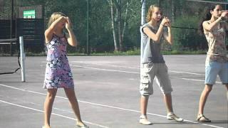 Dansen op camping Bertrix (zomer 2011)