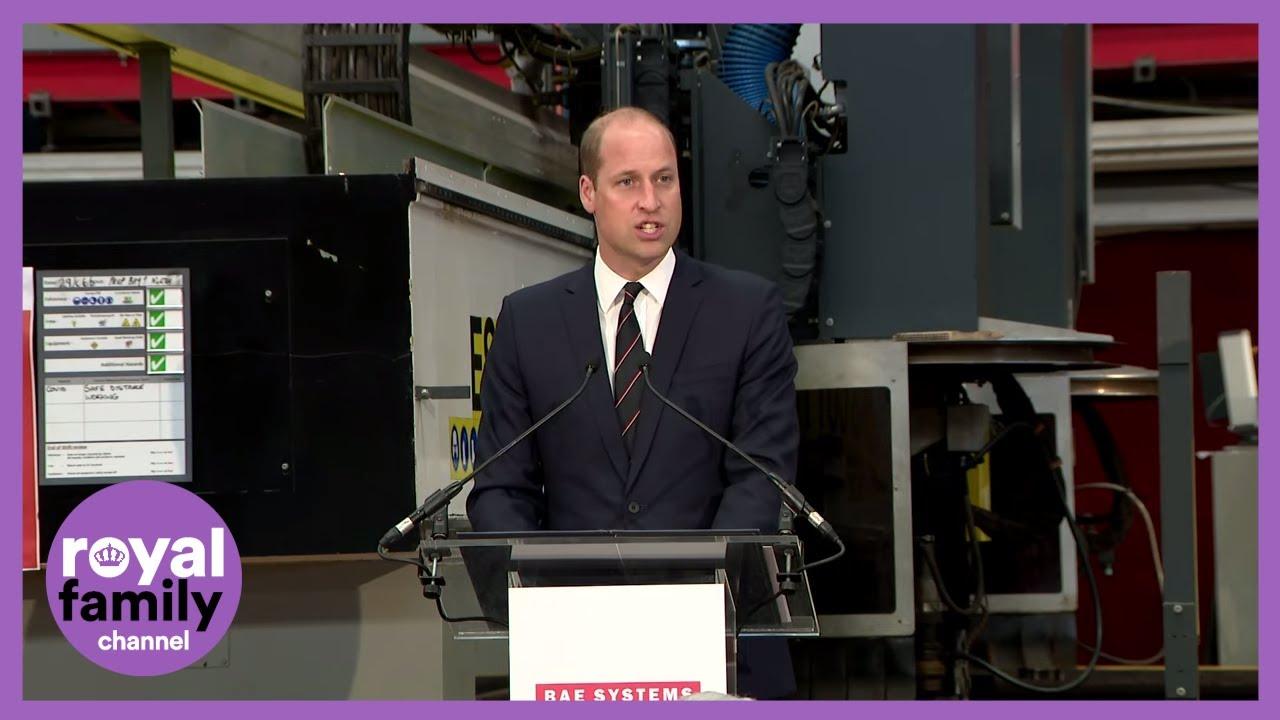 Prince William Remembers Grandfather Duke of Edinburgh at Glasgow Shipyard