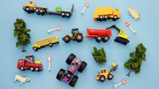 Learn Vehicles for Kids Toy Trucks for Children Todders