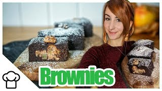 Saftige Brownies mit Überraschungs-Füllung! Vegan & Schnell