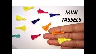 How to make mini tassels // DIY tassels at home // How to make mini tassels at home very easy