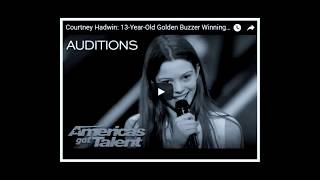 Courtney Hadwin has been rejected by America's Got Talent !!!