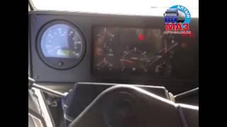 Заводим бортовой автомобиль МАЗ в мороз -20