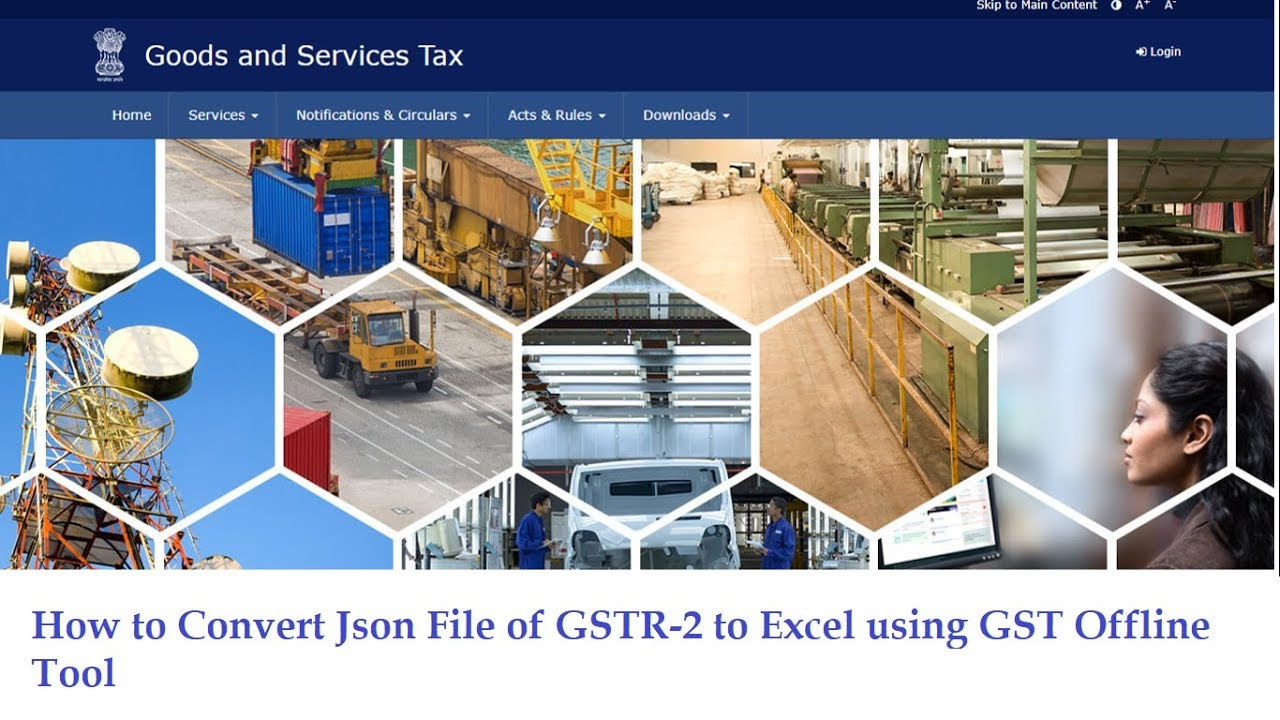 How to Convert of Json File to Excel using Latest GST Offline Tool Version  2  1