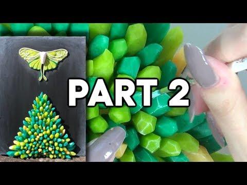 Art Canvas Tutorial: Polymer Clay Quartz Stones   Part 2 thumbnail