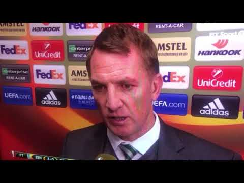 Brendan Rodgers after Zenit defeat