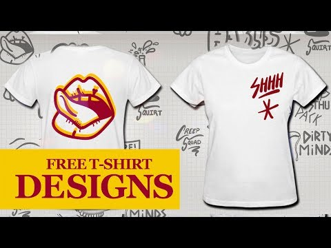 How To Design A CUSTOM T SHIRT ONLINE Using My FREE VECTOR PACKS