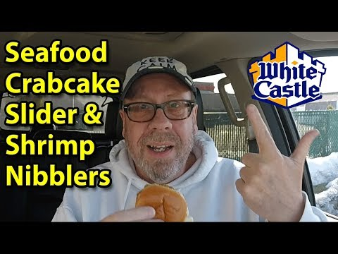 Whitecastle Seafood Crabcake Slider And Shrimp Nibblers | Taste Test & Review | JKMCraveTV