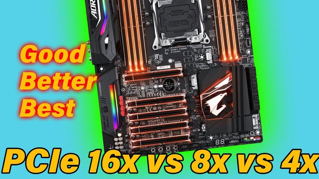 PCIe 16x vs 8x vs 4x - Does It Matter?? - YouTube