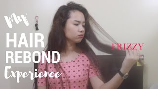 hair rebond with color