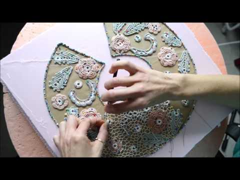 Arbeitsprozess Workprozesse Irish Crochet Irishcrochetlace