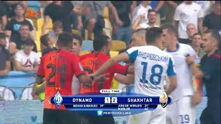 Футболисты потолкались после финального свистка на матче Динамо - Шахтер