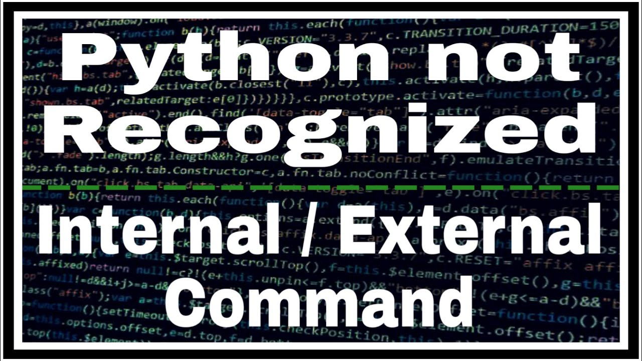 Python is not recognized as an Internal Or External Command   Error Solved      Jeevan Upreti   