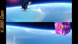 Near Space Flight with V.360 Camera!