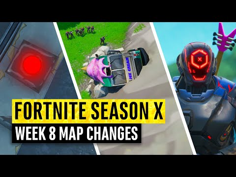 Fortnite | All Season X Map Updates And Hidden Secrets! WEEK 8
