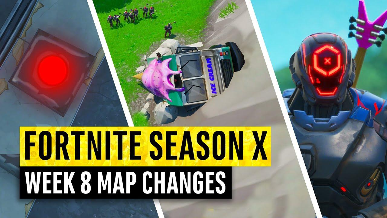 Fortnite All Season X Map Updates And Hidden Secrets Week 8