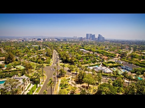 BEVERLY HILLS PARK in 4K WITH DJI DRONE