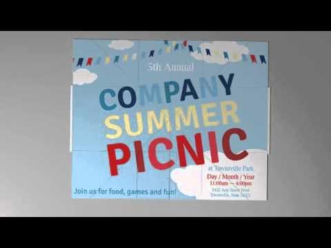 company summer picnic invitation exp 1 k2 red paper plane youtube